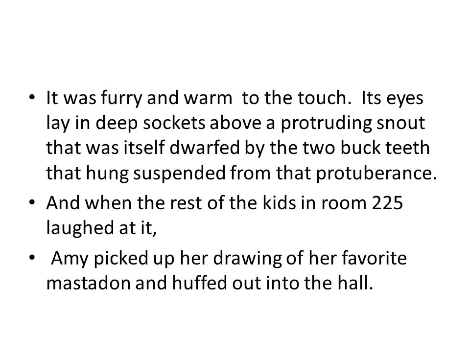 It was furry and warm to the touch.