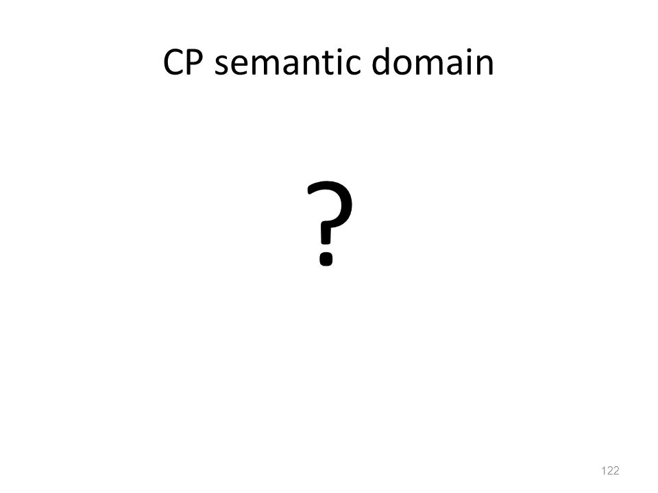 CP semantic domain 122 ?