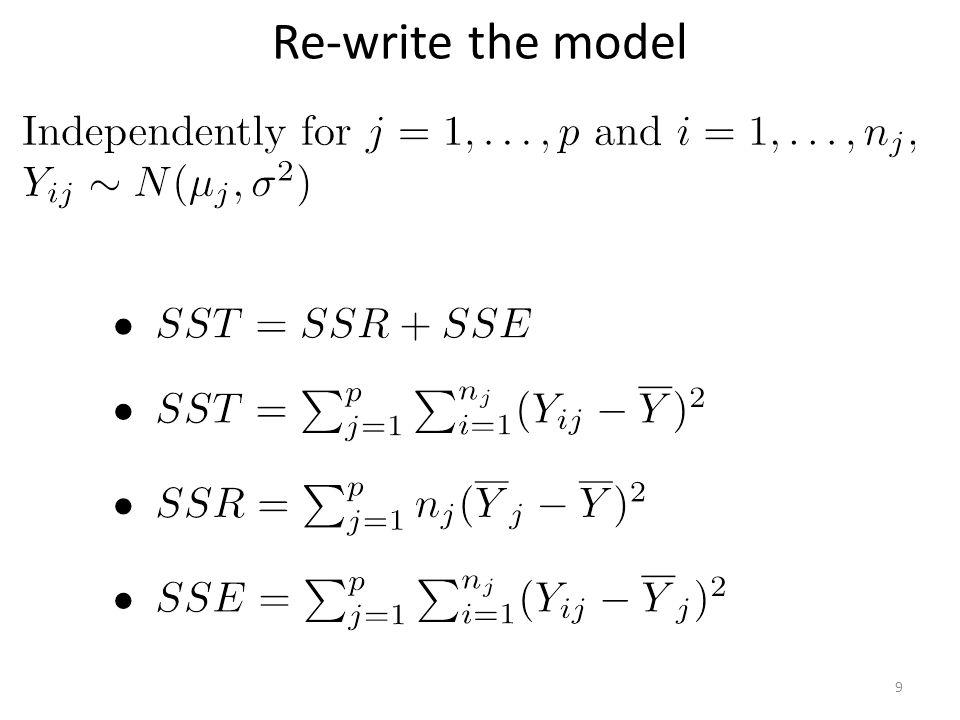 Re-write the model 9