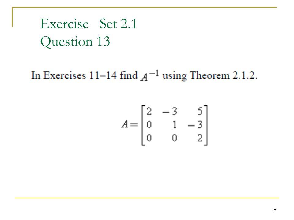 Exercise Set 2.1 Question 13 17