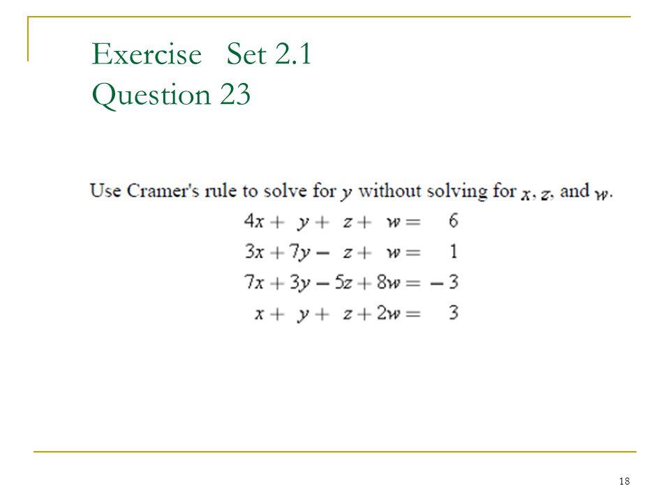Exercise Set 2.1 Question 23 18