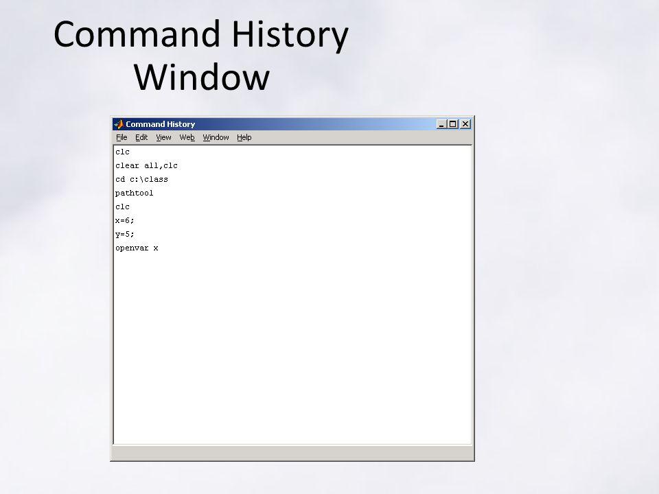 Command History Window