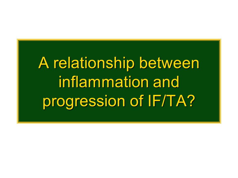A relationship between inflammation and progression of IF/TA?