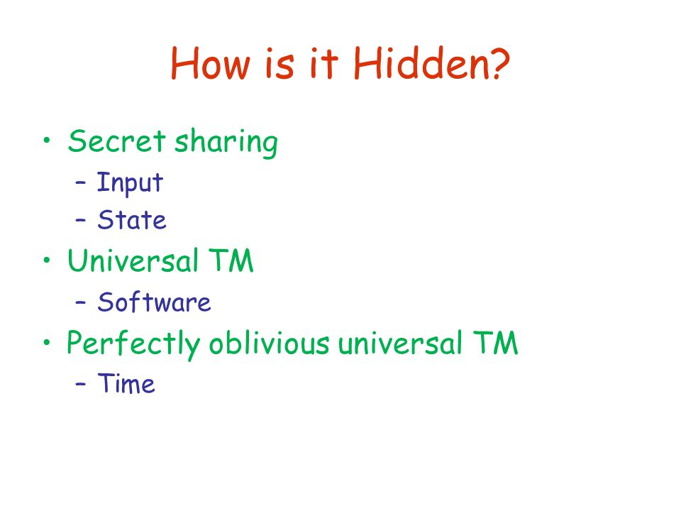How is it Hidden.
