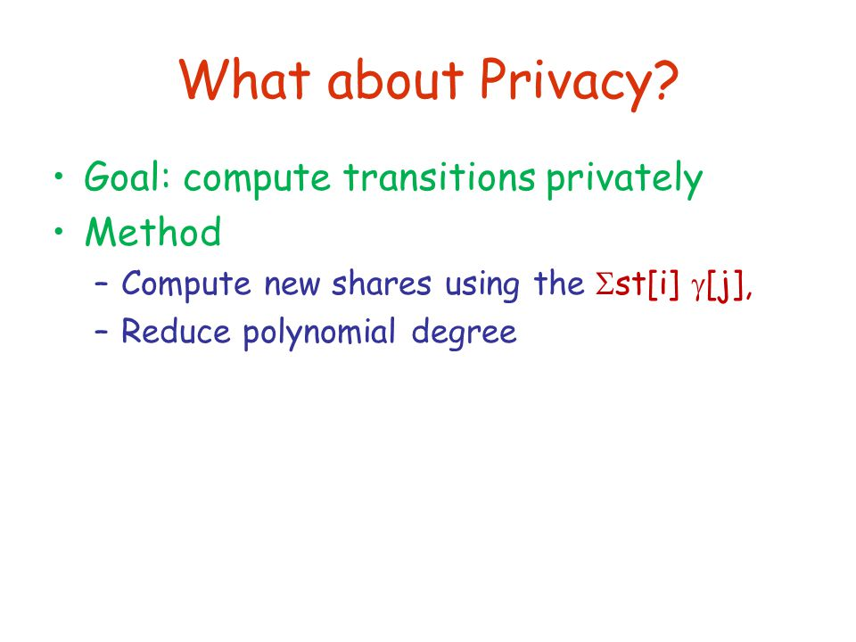 What about Privacy.