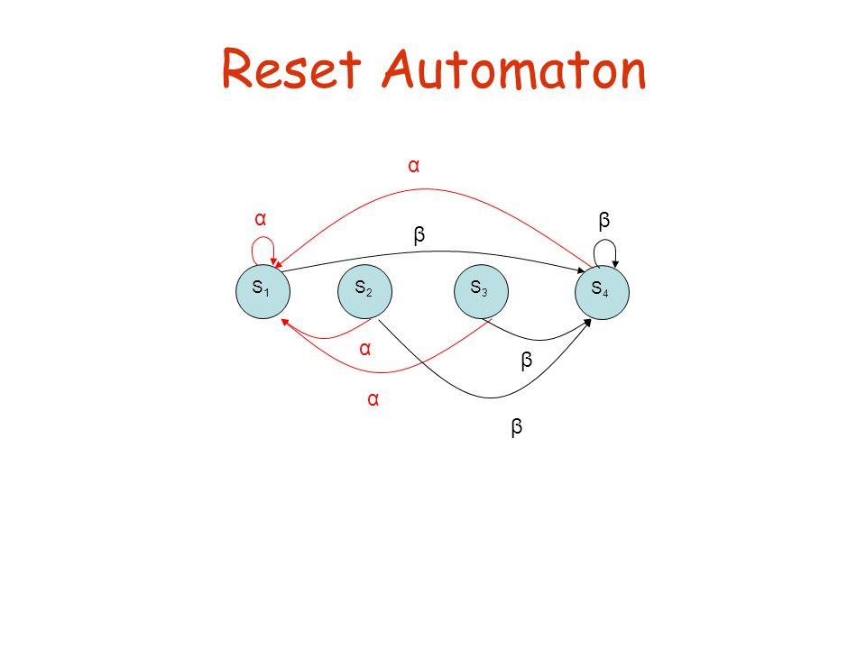 Reset Automaton S1S1 S2S2 S3S3 S4S4 α β α α α β β β