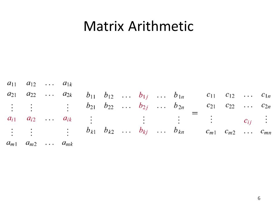 Matrix Arithmetic 6