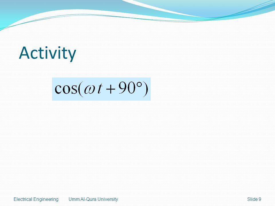 Electrical EngineeringUmm Al-Qura UniversitySlide 9 Activity