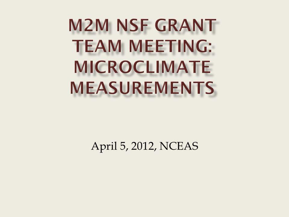 April 5, 2012, NCEAS
