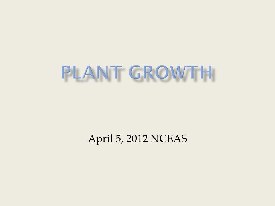 April 5, 2012 NCEAS