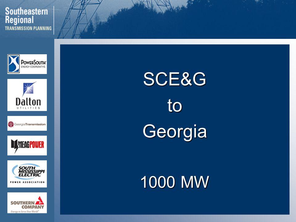 SCE&GtoGeorgia 1000 MW
