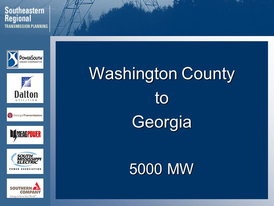 Washington County toGeorgia 5000 MW