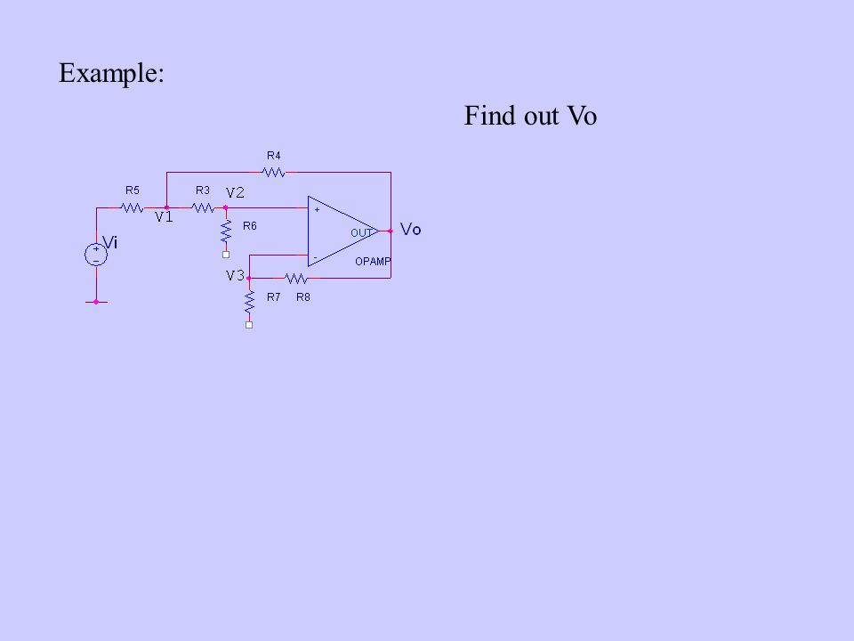Example: Find out Vo