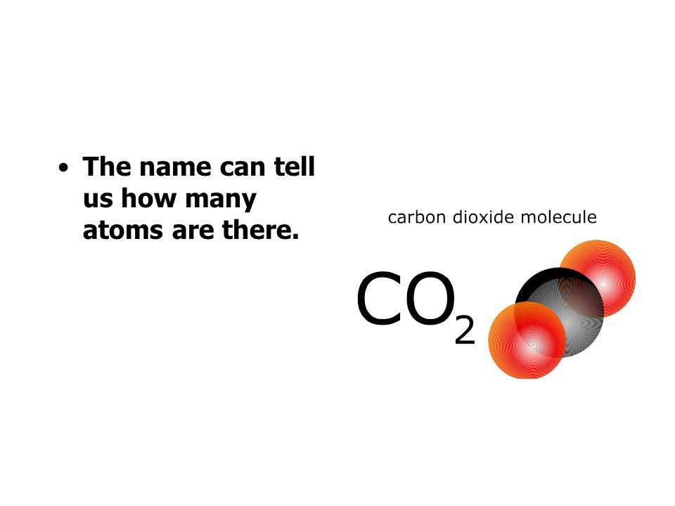 The name can tell us how many atoms are there.