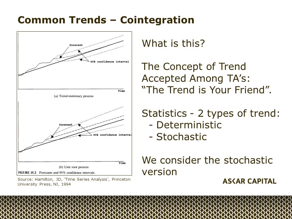 Common Trends – Cointegration What is this.