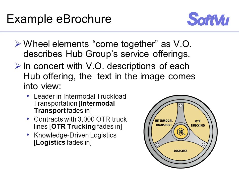 Example eBrochure  Wheel elements come together as V.O.