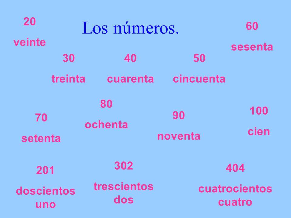 Los números.