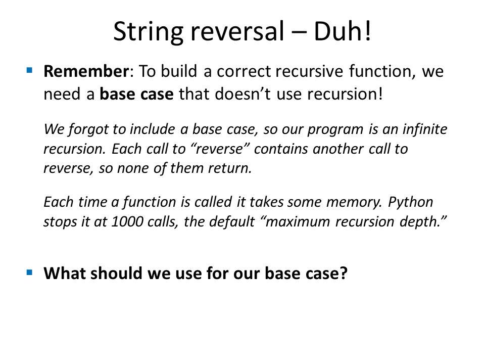 String reversal – Duh.