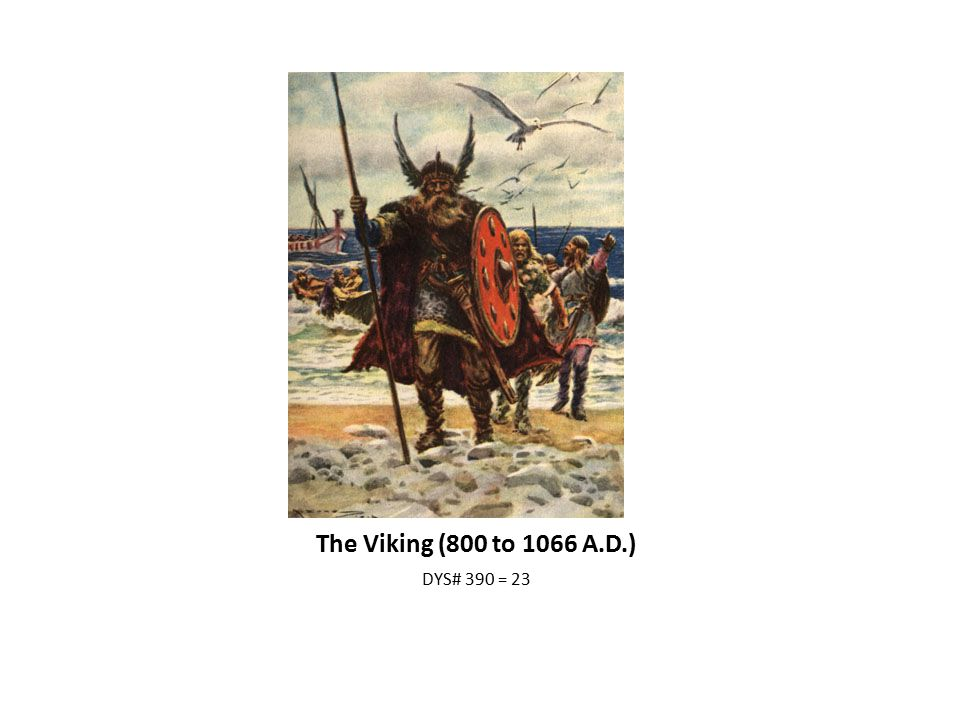 The Viking (800 to 1066 A.D.) DYS# 390 = 23