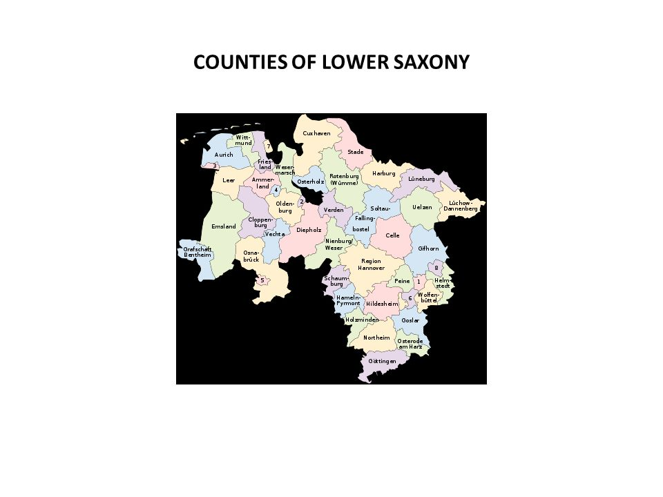 COUNTIES OF LOWER SAXONY