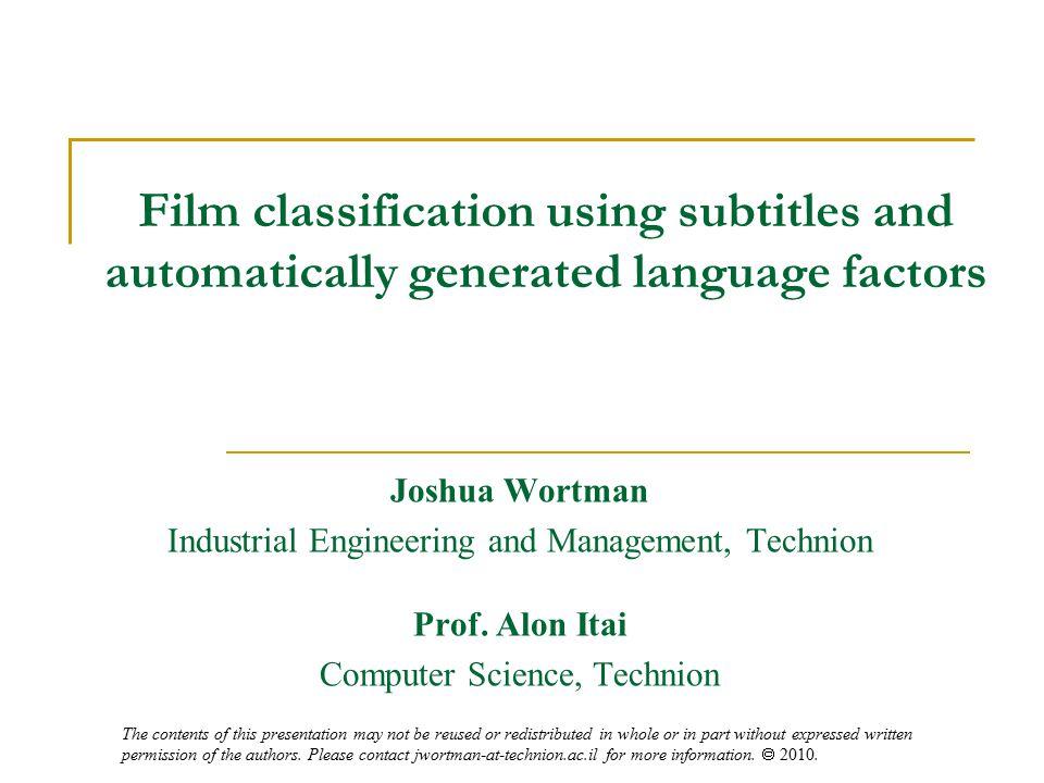 22 Classification Models (general method) 1.