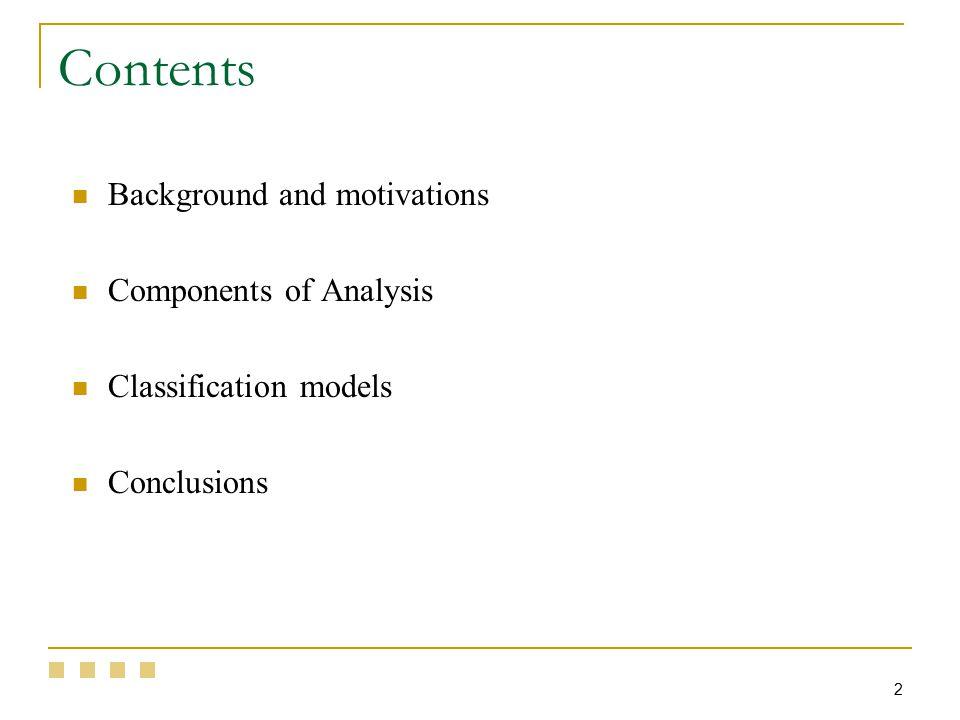 23 Classification Models (general method) 2.
