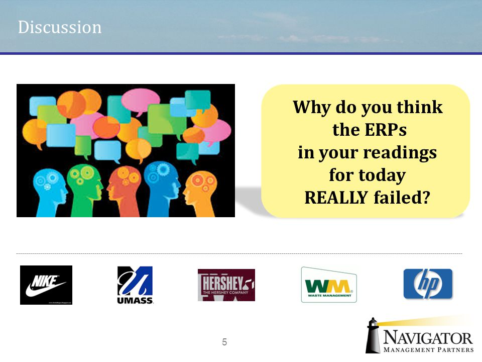 Discussion 5 Why do you think the ERPs in your readings for today REALLY failed?