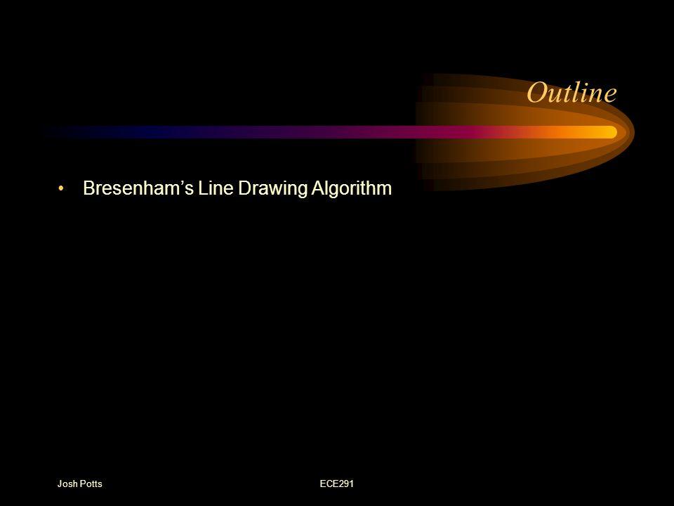 Josh PottsECE291 Outline Bresenham's Line Drawing Algorithm