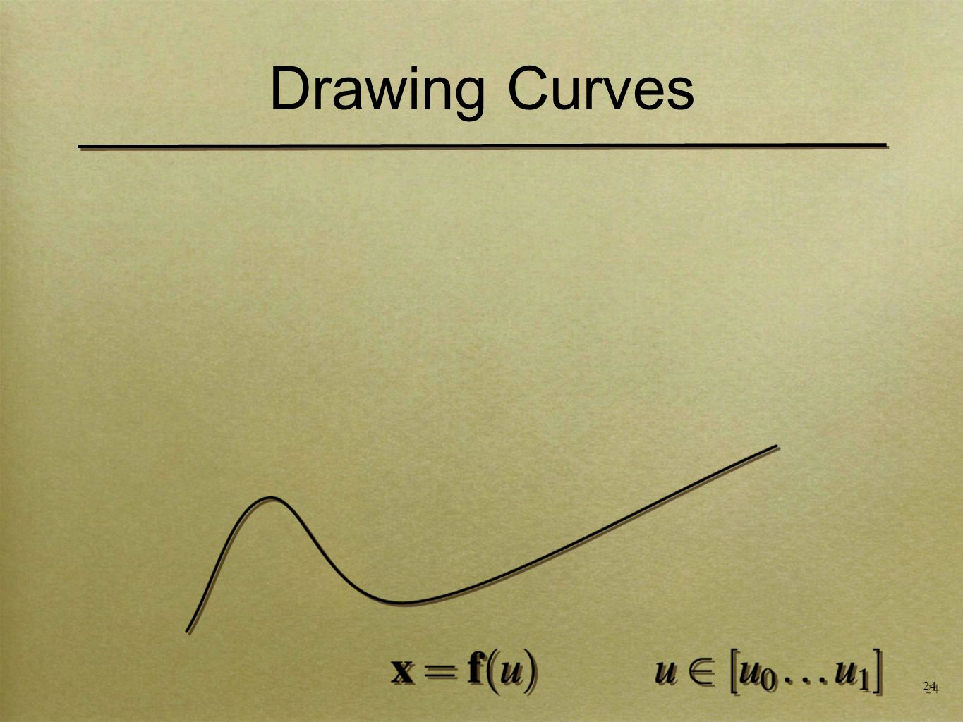 24 Drawing Curves