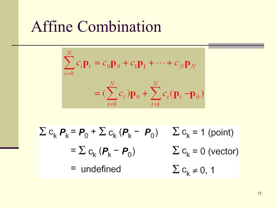 13 Affine Combination