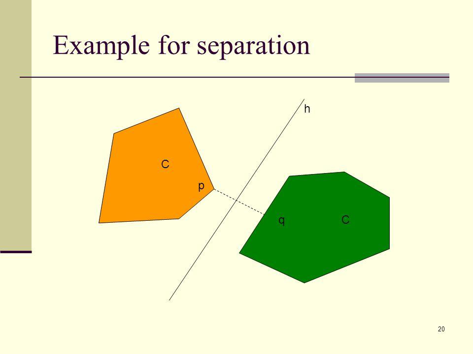 20 Example for separation C C h q p