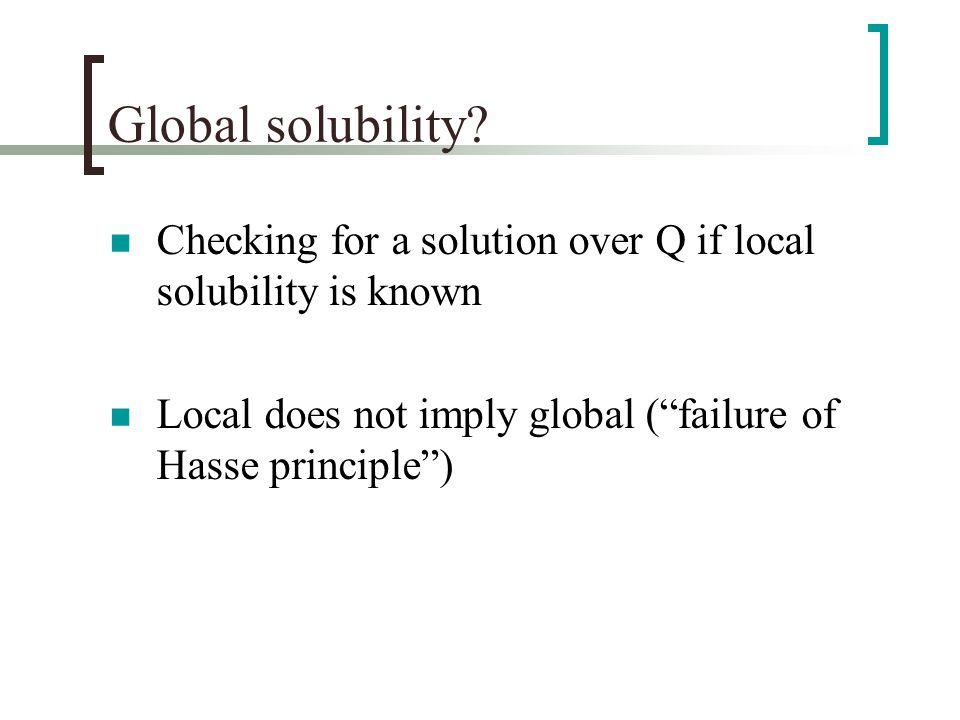 Global solubility.
