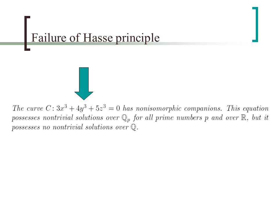 Failure of Hasse principle