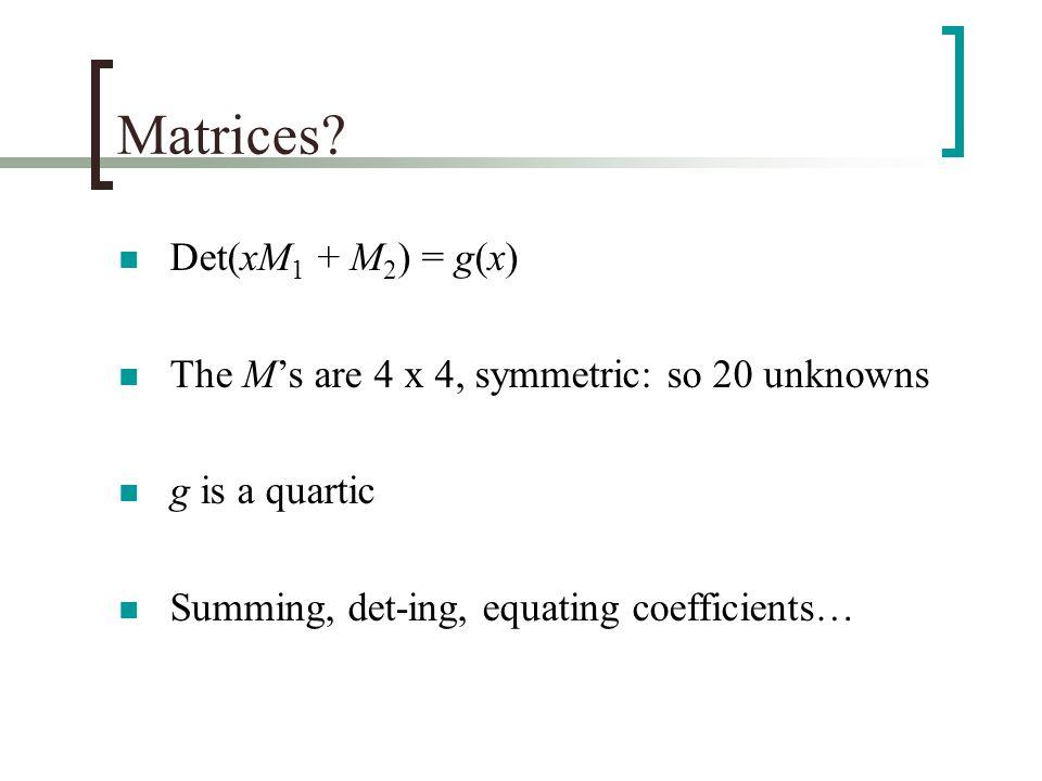Matrices.