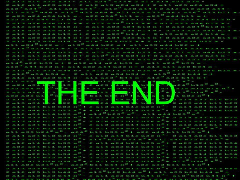 Laskdfj lkjsd THE END