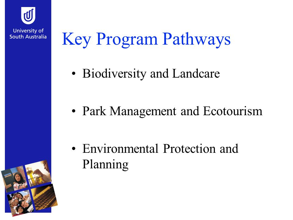 Key Program Pathways Biodiversity and Landcare Park Management and Ecotourism Environmental Protection and Planning