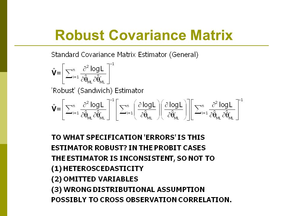 Robust Covariance Matrix
