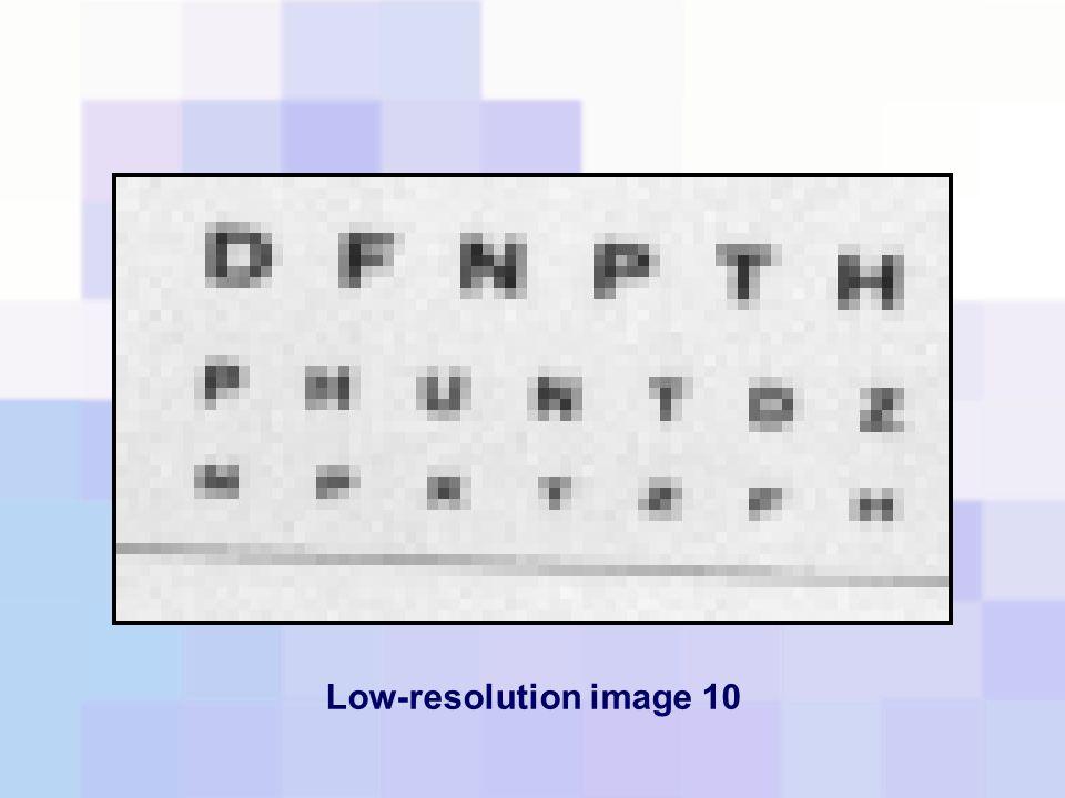 Low-resolution image 10
