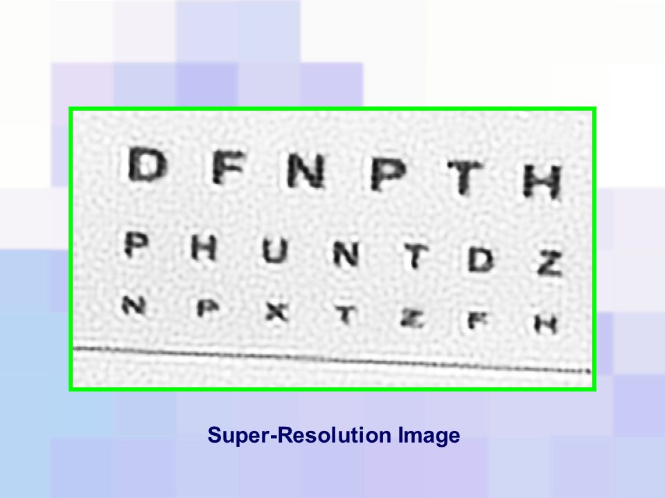 Super-Resolution Image