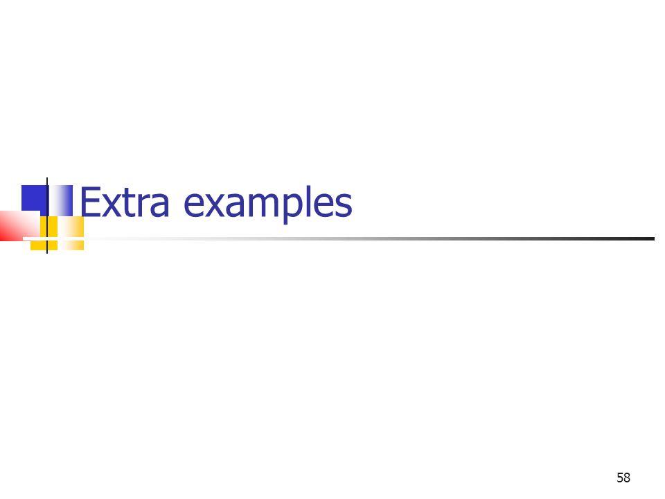 58 Extra examples