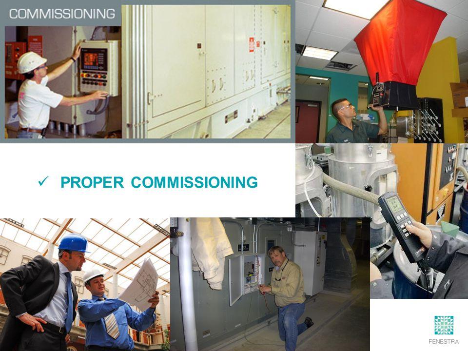 PROPER COMMISSIONING