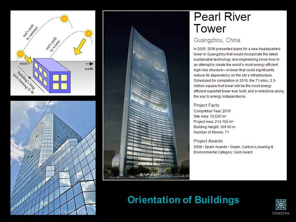Orientation of Buildings
