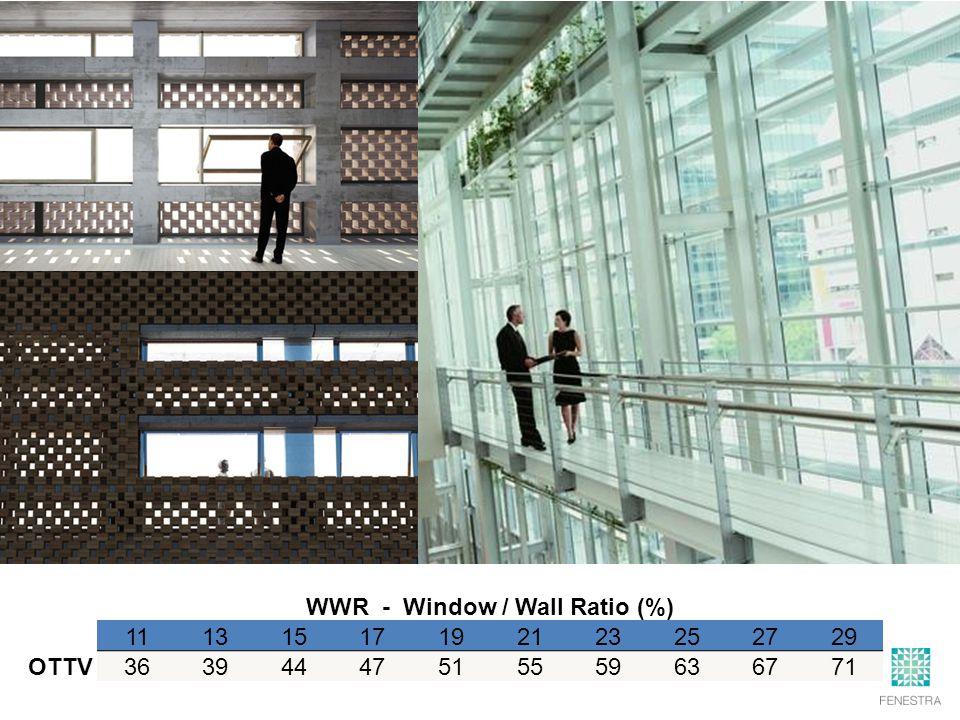 WWR - Window / Wall Ratio (%) 11131517192123252729 OTTV36394447515559636771