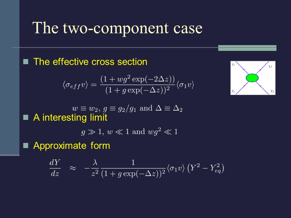 The effective cross section A interesting limit Approximate form The two-component case