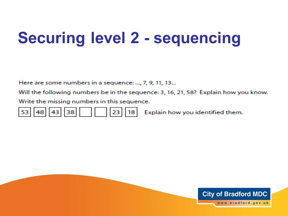 Securing level 2 - sequencing