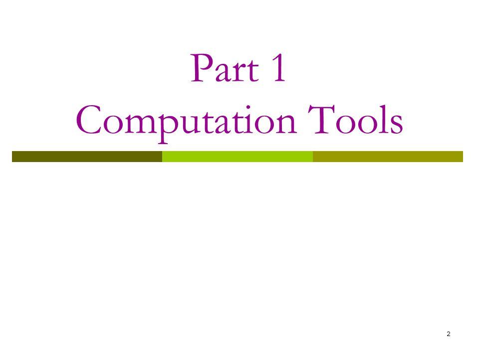 2 Part 1 Computation Tools