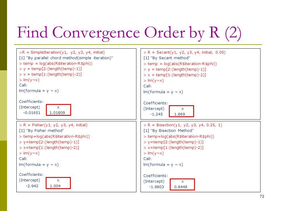 > R = Fisher(y1, y2, y3, y4, initial) [1]