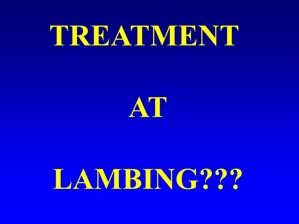 TREATMENT AT LAMBING