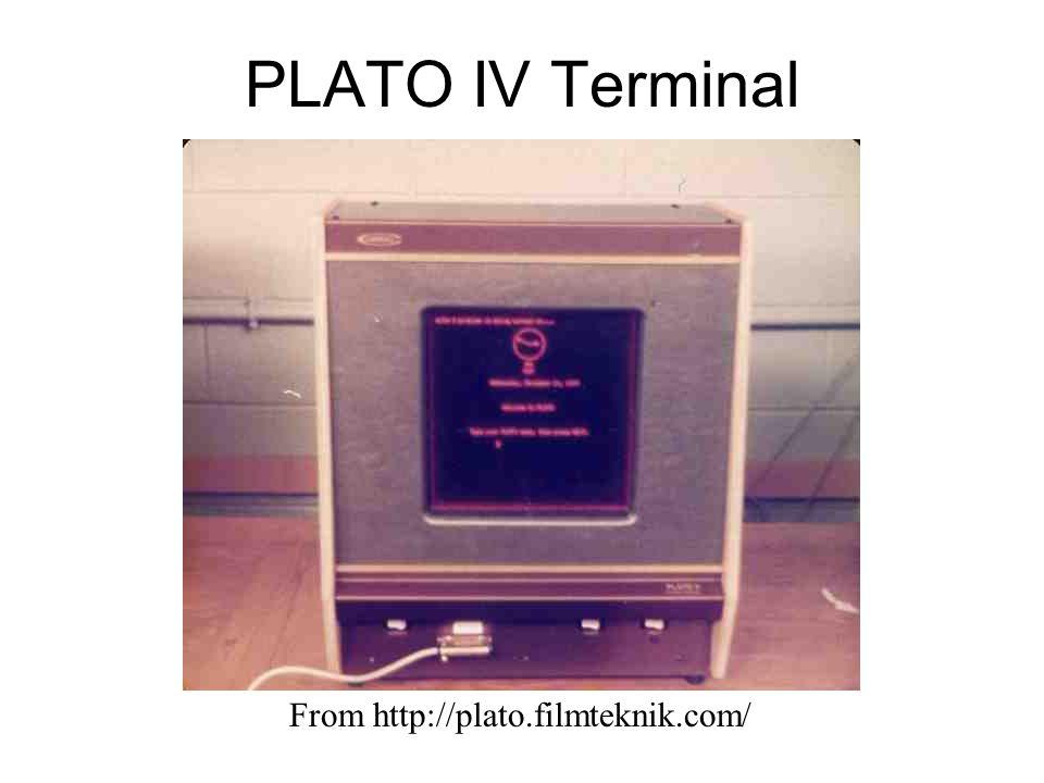 PLATO IV Terminal From http://plato.filmteknik.com/