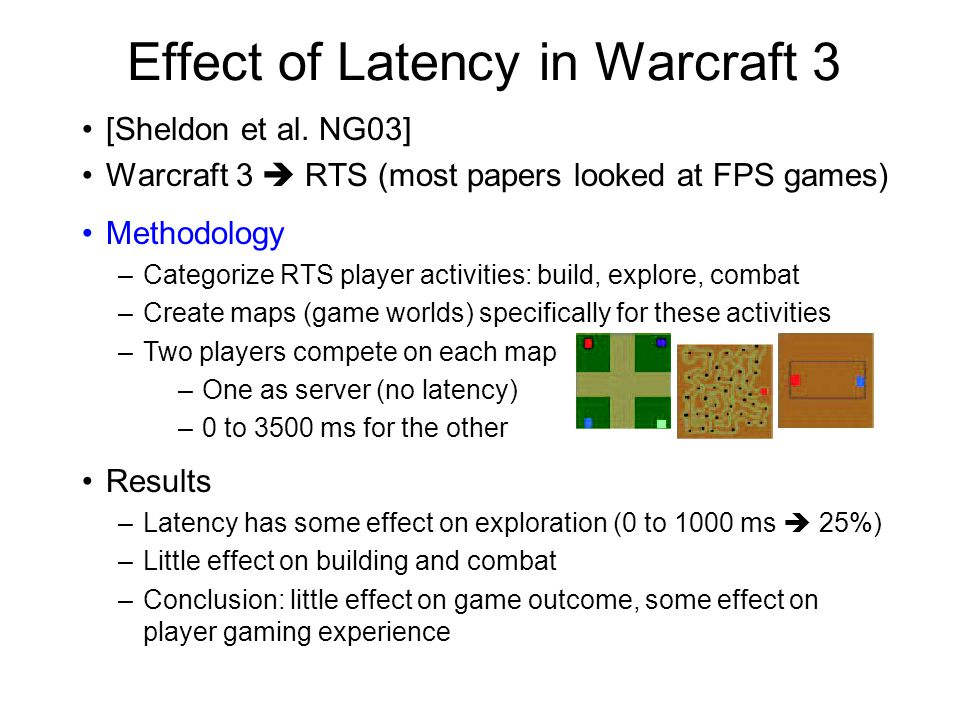 Effect of Latency in Warcraft 3 [Sheldon et al.